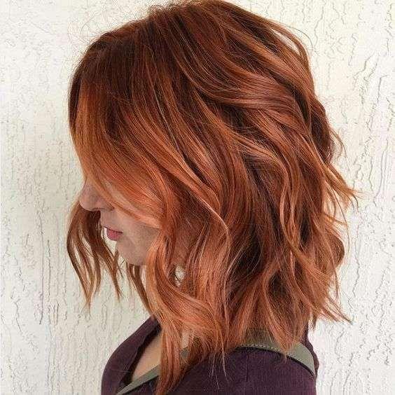 Coupe Cheveux Mi Long Rousse