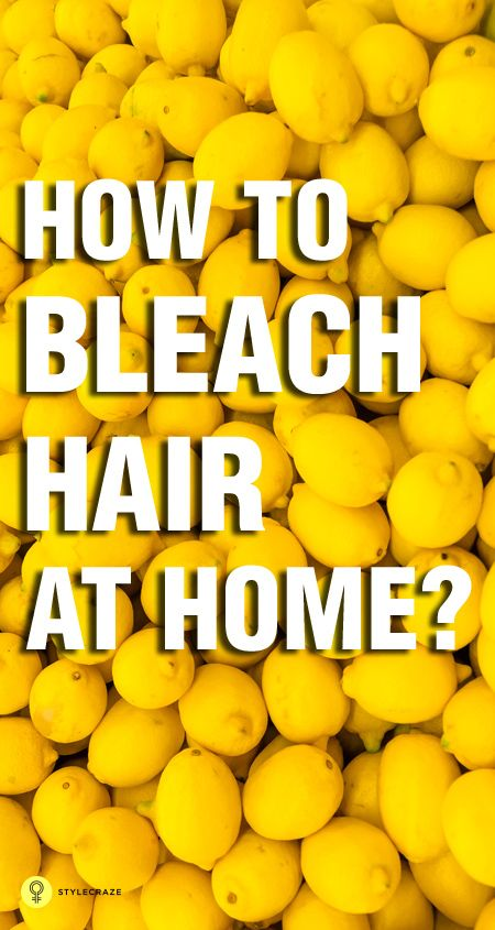 12 Simple Ways To Bleach Hair Naturally