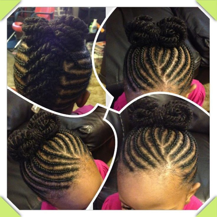 Super cute flat twists up into a bow. Sweet hairstyle for little girls! #african...