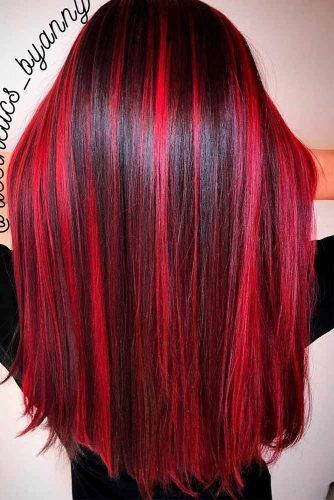 Red Hair Color 18 Totally Awesome Hair Color Ideas For Two Tone Hair Beauty Haircut Home Of Hairstyle Ideas Inspiration Hair Colours Haircuts Trends
