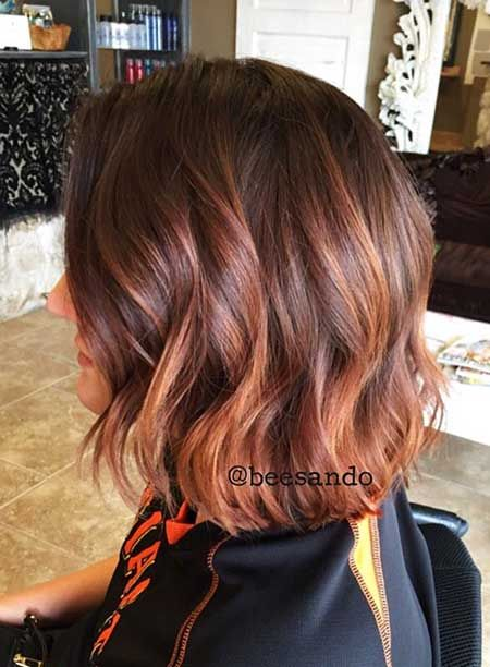 Red Hair Color Balayage Highlights Perruque Ombre