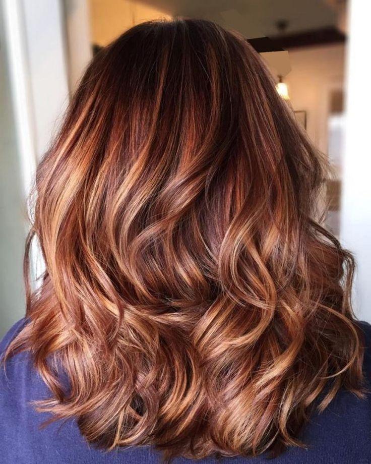 Red Hair Color Balayage Caramel Se Faire Des Meches