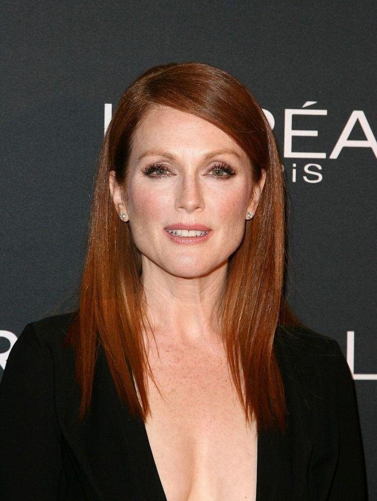 red hair color : idée coiffure femme 50 ans: coupes cheveux