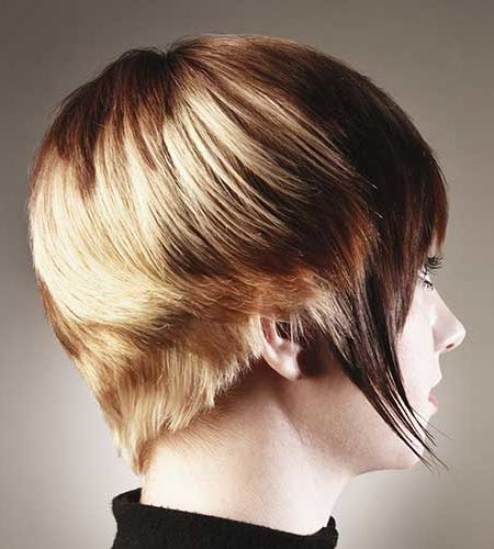 "Wedge haircuts and hairstyles for 2019 ""width ="" 450 ""height ="" 500 ""data-jpibfi-post-excerpt ="" ""data-jpibfi-post-url ="" http://www.frisuren-2018.com/keilhaarschnitte-and -frisuren-fuer-2019 / ""data-jpibfi-post-title ="" Wedge Haircuts and Hairstyles for 2019 ""data-jpibfi-src ="" http://www.frisuren-2018.com/wp-content/uploads/2019/ 05 / 1559244938_683_Keilhaarschnitte-and-hairstyles-for-2019.jpg ""/><strong>Shag haircut </strong></p> <p>Beach waves make this cut absolutely wearable. The ruffled texture looks like the model does not spend time styling. This shag haircut is pretty tender and gorgeous because of the color. Natural brown hair was combined with silvery-blonde stripes to create a multi-dimensional look. You will want to bleach your threads to place those exquisite silver highlights in your threads. <img class="