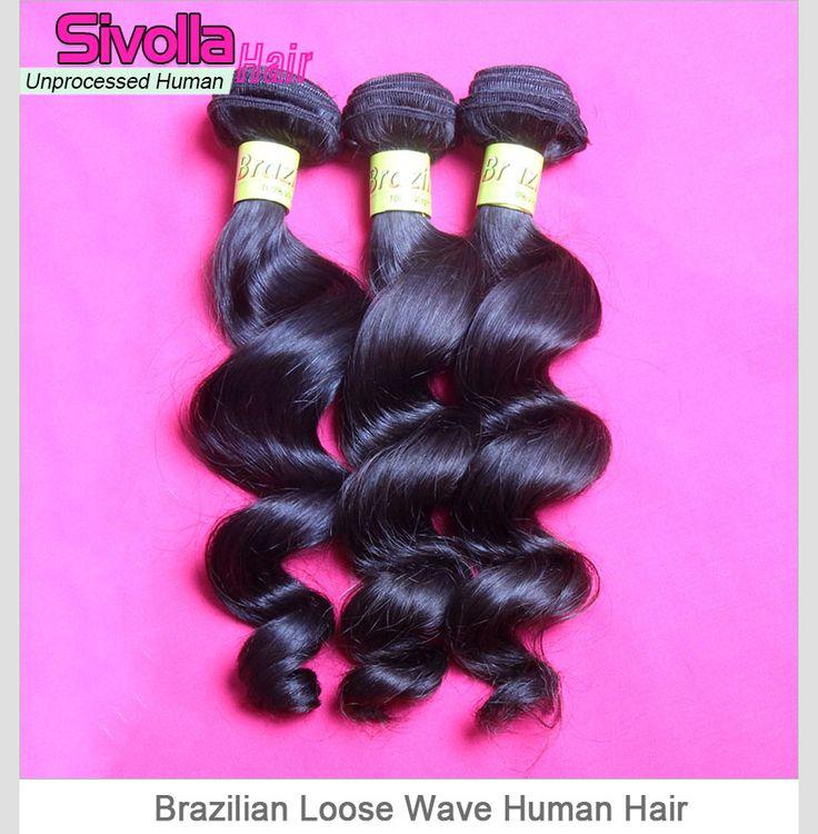 3 Bundles Loose Wave Unprocessed Original Brazilian Virgin Hair Weave Mixed Length SVH026