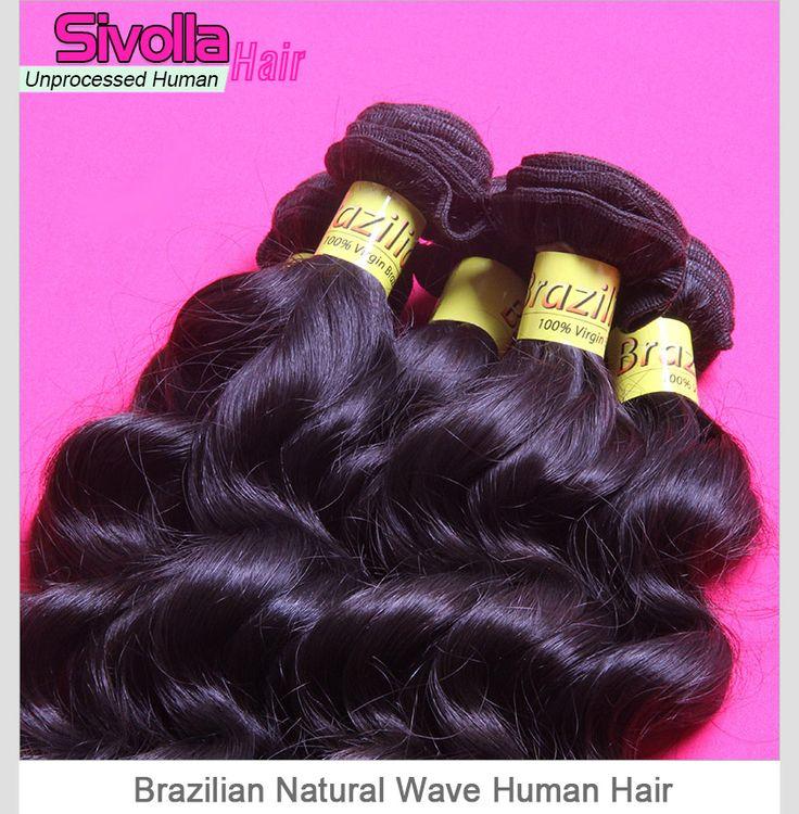 3 Pieces/Lot Brazilian Loose Deep Curly/Weave Virgin Human Hair Bundles SVH058
