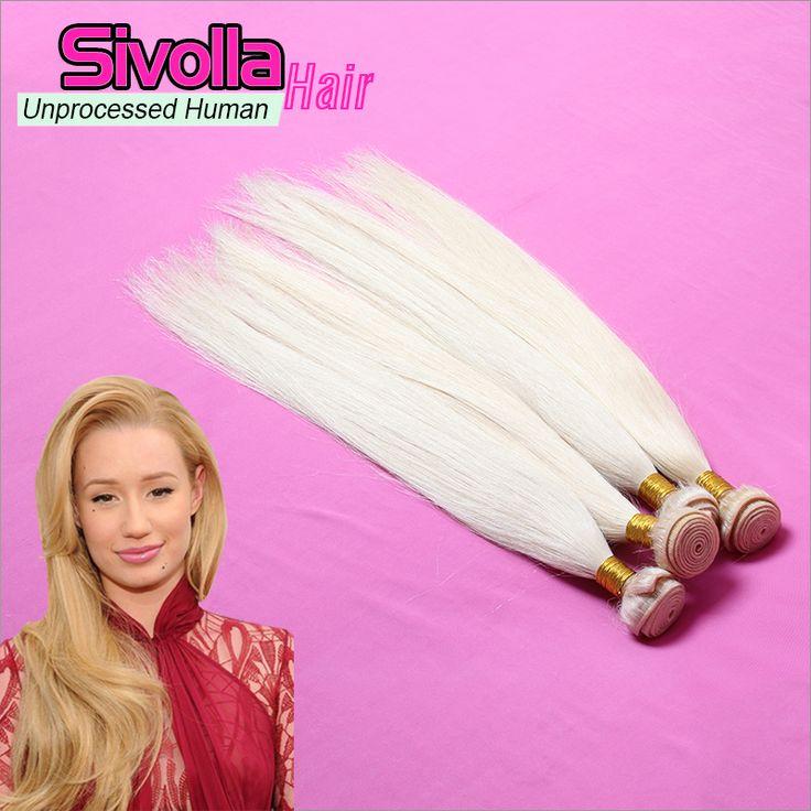 3 Pcs/Lot Brazilian Straight Color #613 Human Hair Bundles SVH314