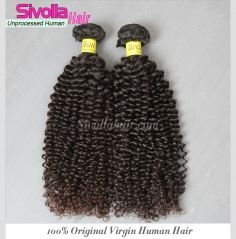 Wholesale 1Kilo/10Pcs/Lot Brazilian Jerry Curly Natural Human Hair Bundles SVH319