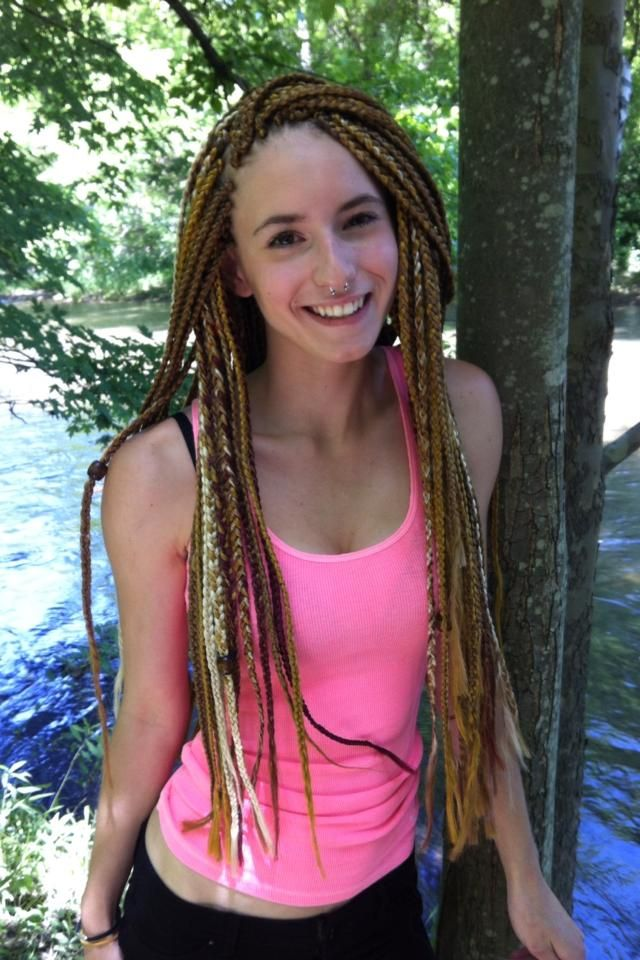 American And African Hair Braiding Multi Color Box Braids White Blonde Honey Brown Hair Is Cute Too Beauty Haircut Home Of Hairstyle Ideas Inspiration Hair Colours Haircuts Trends
