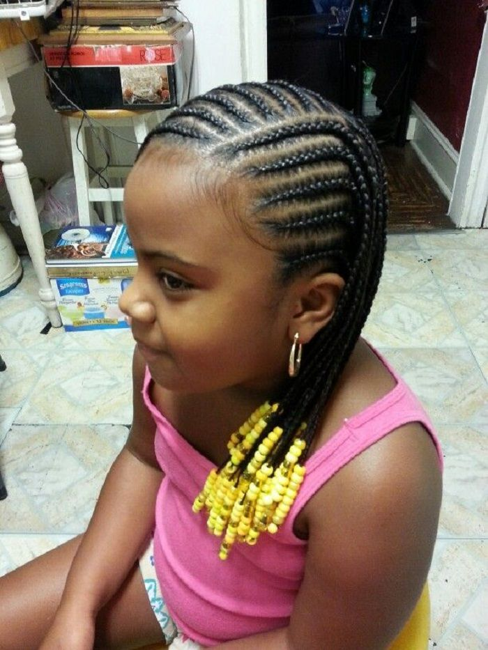 American And African Hair Braiding Large Cornrows Styles