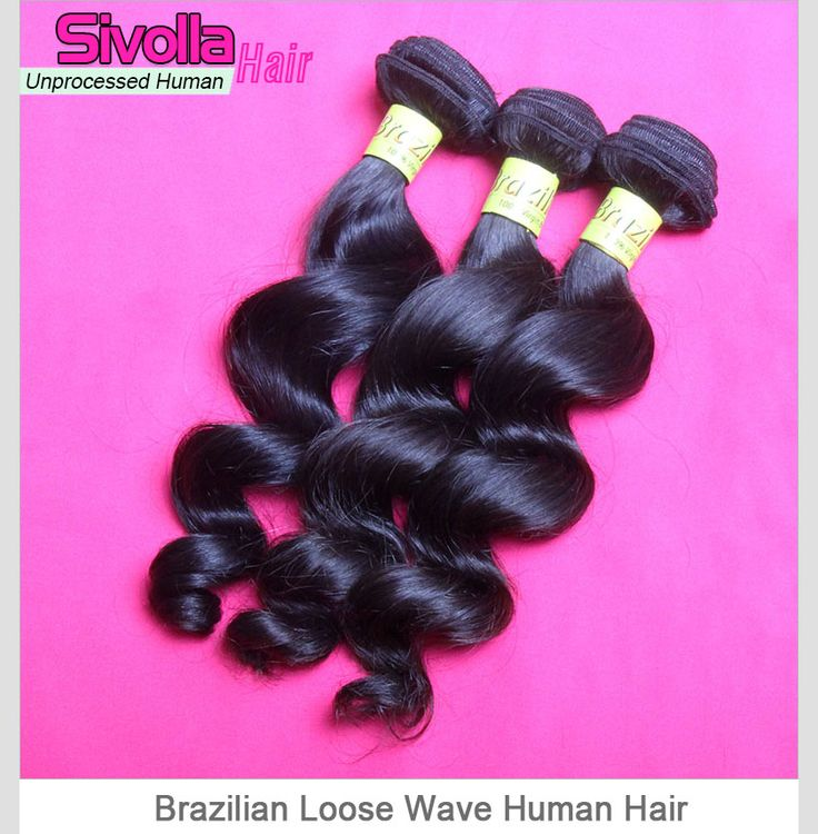 3 Bundles Loose Wave Unprocessed Original Brazilian Virgin Hair Weave Mixed Length SVH026