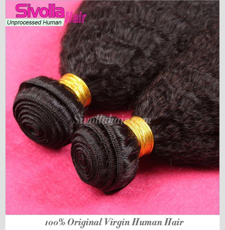 4pcs/lot Bundles Deal Brazilian Kinky Straight Human Hair Weaves SVH291