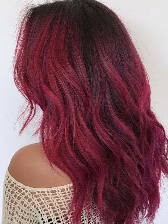 You Didn't Know You Needed Red Ombré Hair Inspo Until Now
