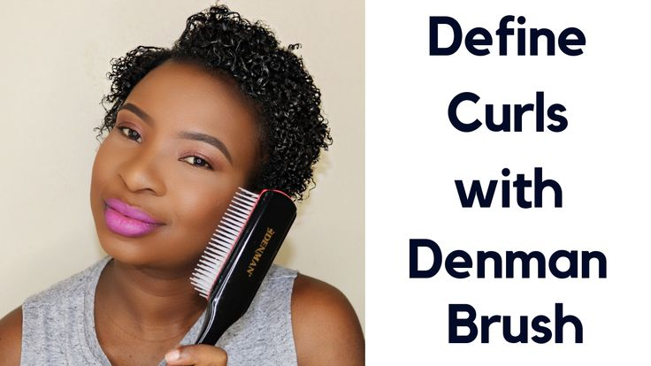 DEFINING CURLS WITH DENMAN BRUSH ON SHORT HAIR