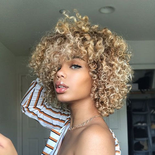 Hairstyles Natural Curly Short Hairstyles For Pretty