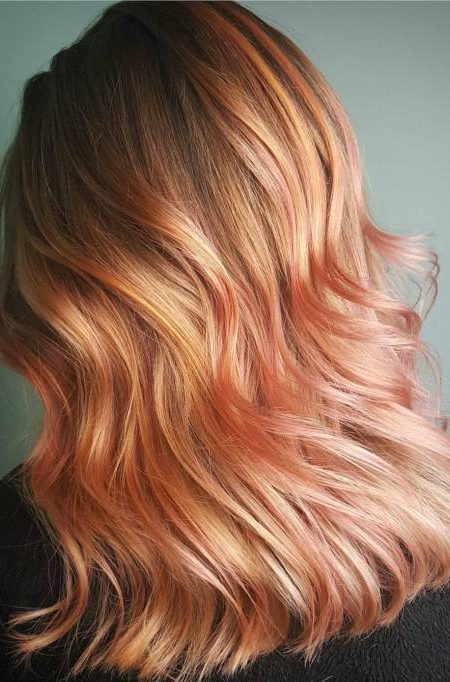 Top Rose Gold Hair Colors 2019-2020