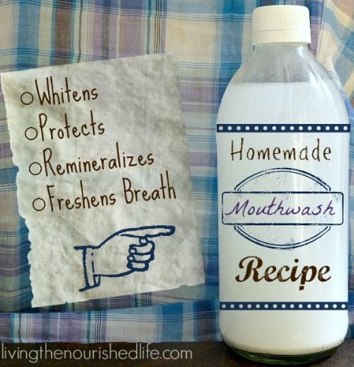 DIY Homemade Mouthwash to Whiten + Remineralize