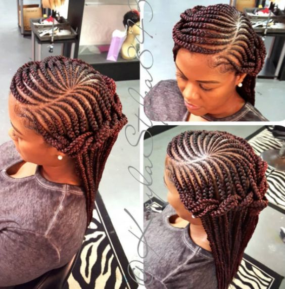 35 Feed In Braids Hairstyles For Natural Hair