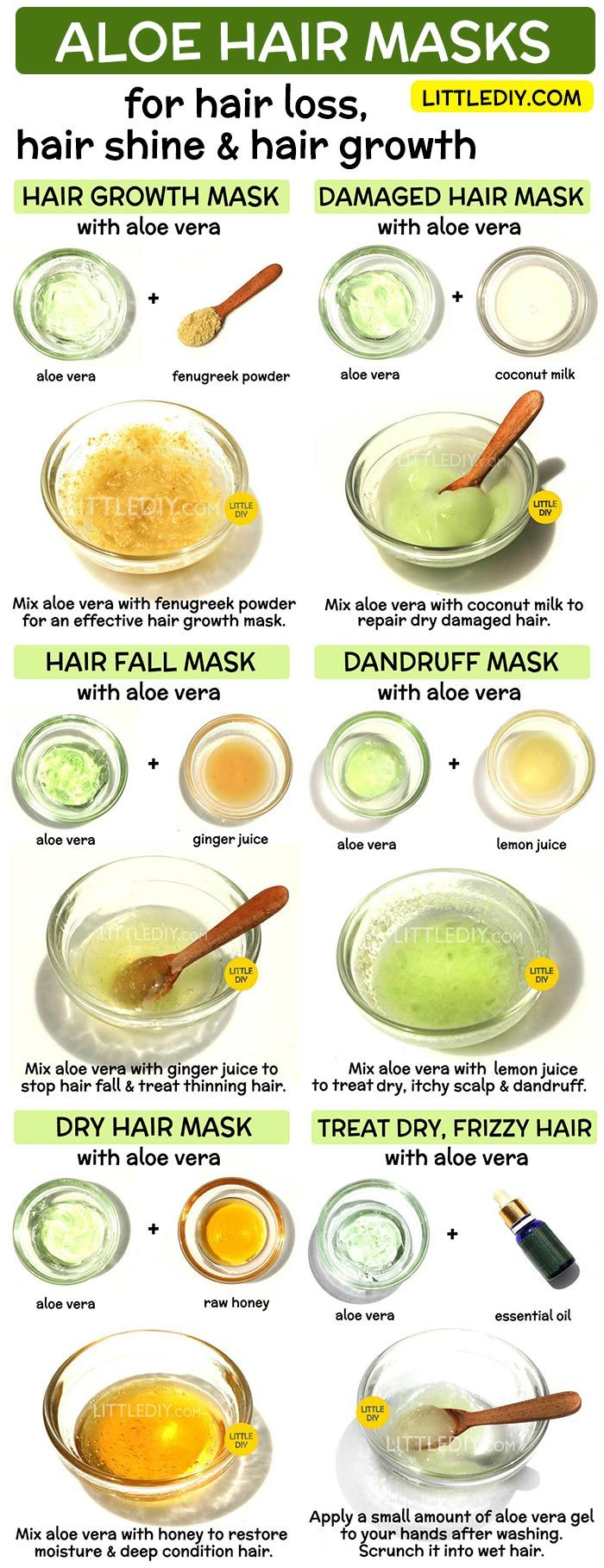 ALOE VERA HAIR MASKS for hair growth, hair loss and shine