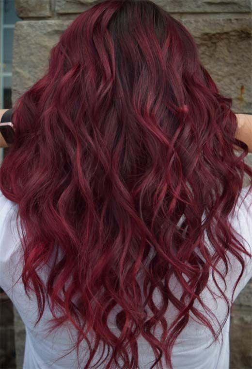 63 idées de couleur de cheveux Bourgogne délicieux: cheveux Bourgogne - #Bourg...