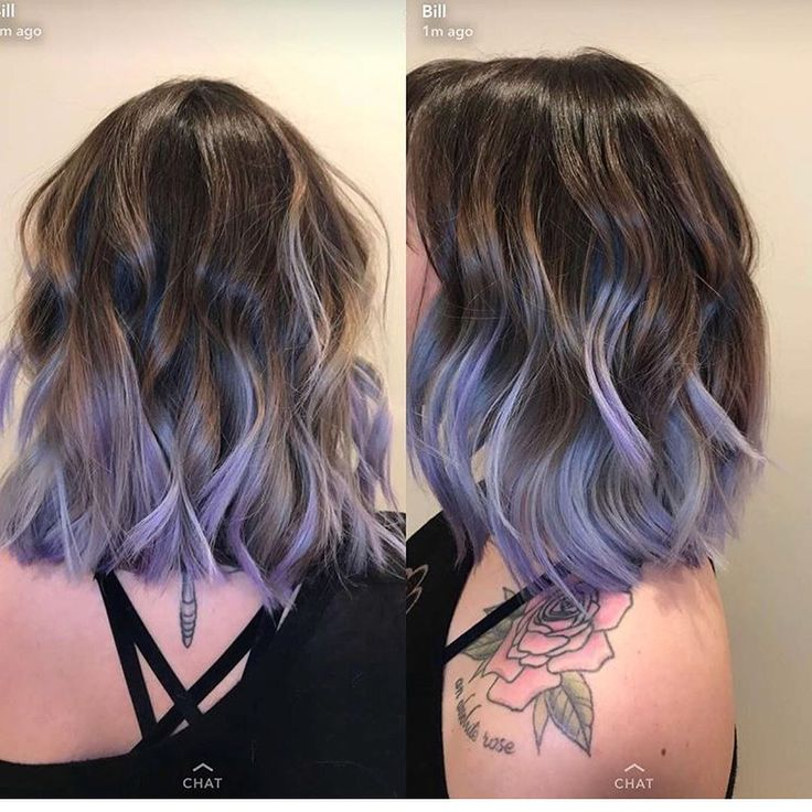 Lavender ombré bob #style #fashion #hair #haircolor #purplehair