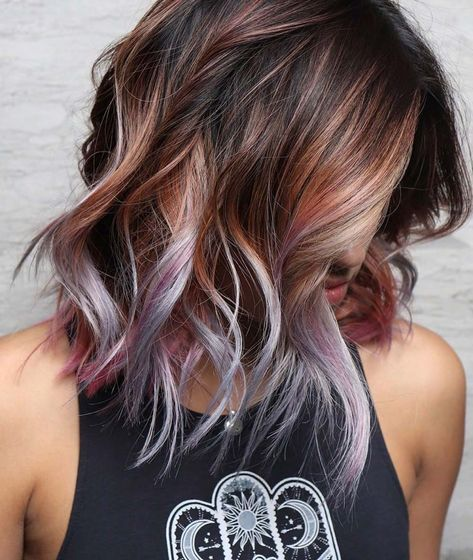 Trendy Ideas For Hair Color Highlights Lovely Purple Hair Color Ideas Trending In 2019 Beauty Haircut Home Of Hairstyle Ideas Inspiration Hair Colours Haircuts Trends
